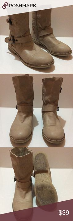 🔸Final Price🔸 Call it Spring boots Used once. Great condition. Taupe. Call It Spring Shoes Combat & Moto Boots