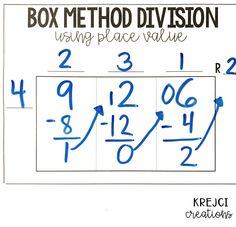 8 Helpful Tips for Teaching Long Division - Krejci Creations Teaching Long Division, Math Division, Long Division Worksheets, Long Division Strategies, Long Division Activities, Teaching Strategies, Teaching Math, Maths, Math Teacher