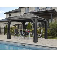 Sojag Mykonos 12x16 Hardtop Gazebo Sam S Club Hardtop Gazebo Backyard Pool Landscaping Gazebo