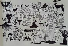 Drawing Harry Potter Symbols Hogwarts 55 Ideas For 2019 Fanart Harry Potter, Harry Potter Tattoos, Harry Potter Sketch, Harry Potter Symbols, Arte Do Harry Potter, Harry Potter Girl, Harry Potter Quotes, Harry Potter Drawings Easy, Harry Potter Journal