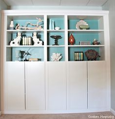 built in billy bookcases from ikea, home decor, storage ideas