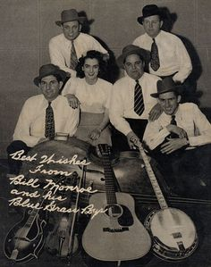 Bill Monroe and the Bluegrass Boys circa 1945 - Bill Monroe is considered the father of bluegrass music genre