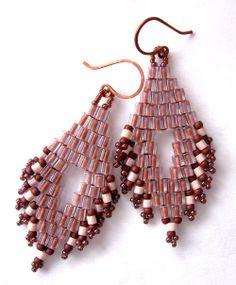 Tribal earringsboho earringsbeadwoven by Kissedbyclover on Etsy, #beadwork