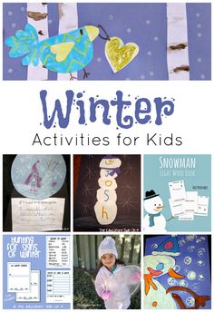 Winter Activities for Kids from The Educators' Spin On It . Playful ways to create snowmen and learn about Winter.