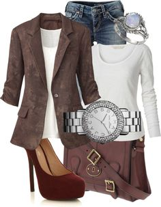 """""""Casual Tweed"""" by bennetgirl ❤ liked on Polyvore"""