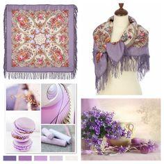 "Russian Pavlovsky Posad shawl ""Loving touches"""