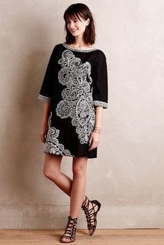 Nanette Lepore Contrasted Paisley Shift #anthrofave