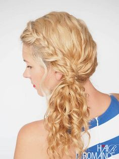 Braided Side Ponytail | 12 Curly Homecoming Hairstyles You Can Show Off