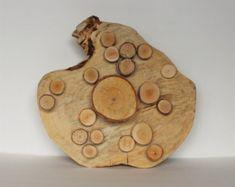 Ähnliche Artikel wie Aufgearbeiteten Holz Mond Skulptur Hochzeit Dekor umgewidmet recyceltem Holz Scheibe Skulptur Baum brotmesser abstrakte Form freier form auf Etsy