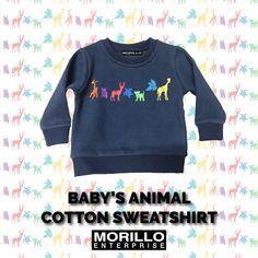 08549dca Morillo Enterprise presents Baby's Animal Cotton Sweatshirt. #