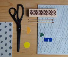 Hay scribble notebook black dots