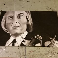The Tall Man from Phantasm Angus Scrimm Original Charcoal Drawing 11 x 17 Framed by BrokeDrawers on Etsy