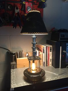 Desk/Table lamp made from used Scooter, and Harley Davidson ...