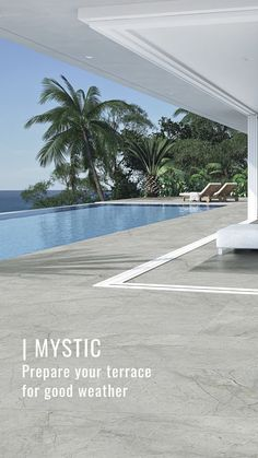 ITT Ceramic presents this new collection of #porcelain tiles with grey tones and delicate decorative interweave. A material with a GRIP + finish ideal for #outdoors and swimming pools. #flooring #swimmingpool #architecture #interiordesign #newin Terrace Ideas, Porcelain Tiles, Spring Is Coming, Mystic, Swimming Pools, Presents, Delicate, Outdoors, Weather