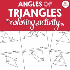 Angles Of Triangles Activity Triangle Angle Sum Exterior Angle Theorems Triangle Angles