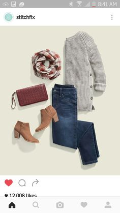 This sweater should be in my closet. Actually, the whole outfit. I've got the shoes and bag to start!