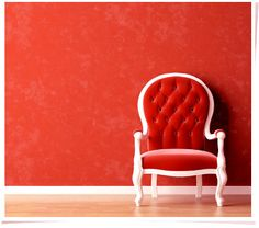 Beautiful red chair...