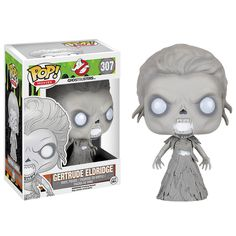 Now this is neat! This is the Ghostbusters Gertrude Eldridge Vinyl figure that is produced by the neat folks over at Funko. It's awesome to see the new Ghostbuster characters in Funko POP Vinyl form.