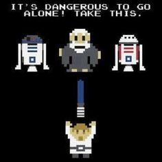 Your father's lightsaber! 8 bits.