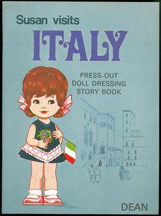 UN CUT Paper Doll Book Susan Visits Italy W Storybook Dean 1973 | eBay