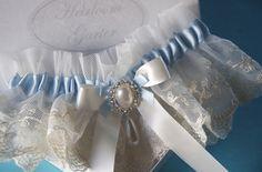 Breath of Something Blue English Net Wedding Day by GarterLady, $29.00
