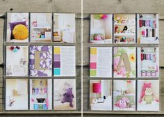 by Tara Leake. Include your kids rooms. Love the paint chip squares on the journal cards.
