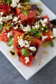 Watermelon, Feta, Mint, and Pistachio Salad | aidamollenkamp.com