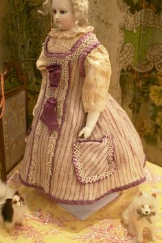 Lovely French Mode Enfantine Dress for Fashion Dolls