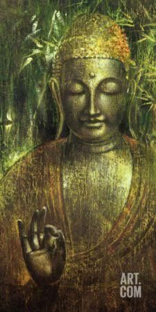 Buddha in Green l Art Print by Wei Ying-wu at Art.com