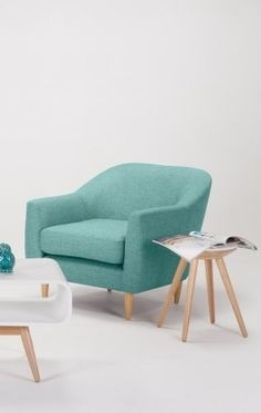 The Tubby Armchair in Pacific Blue. Perfect for smaller spaces that need a pop of colour. £199 | MADE.COM