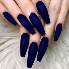 54 Hottest Trendy Acrylic Coffin Nails To Insprire You This .- 54 Hottest Trendy Acrylic Coffin Nails To Insprire You This Spring – - Dark Blue Nails, Blue Matte Nails, Blue Acrylic Nails, Coffin Nails Matte, Aycrlic Nails, Coffin Shape Nails, Cute Nails, Neon Blue Nails, Maroon Nails Burgundy