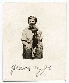 Citation: Jackson Pollock at age 10 with his dog, Gyp, 1922 / unidentified photographer. Jackson Pollock and Lee Krasner papers, Archives of American Art, Smithsonian Institution.