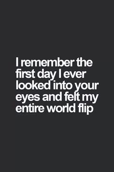 The first day i saw you