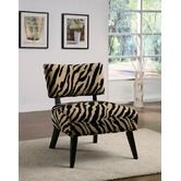 Found it at Wayfair - Oversized Microfiber Accent Chair in Zebra