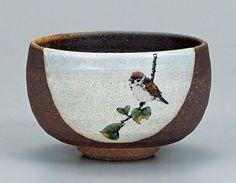 Japanese Pottery Japanese Tea Bowl Kutani Ware for Green Tea Maccha