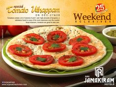 Looking for an Exclusive weekend special? We, #SrijanakiramHotels ready to serve you a delicious TOMATO UTHAPPAM, a healthy breakfast. Come taste and enjoy with your loved ones.