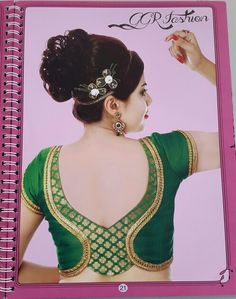 Designer blouse designs with beautiful ideas for neck and back. Browse latest blouse models, saree, patterns online on Happy Shappy Simple Blouse Designs, Stylish Blouse Design, Saree Blouse Neck Designs, Choli Designs, Dress Neck Designs, Designer Blouse Patterns, Blouse Styles, Fashion Design, Women's Fashion