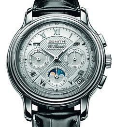 Zenith | ChronoMaster T Moonphase El Primero | Edelstahl | Uhren-Datenbank watchtime.net