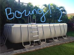 How to de-boring the outside of an above ground pool. pool ideas How to de-boring the outside of an above-ground pool Cheap Above Ground Pool, Rectangle Above Ground Pool, Intex Above Ground Pools, Rectangle Pool, Above Ground Swimming Pools, In Ground Pools, Oberirdischer Pool, Intex Pool, Kiddie Pool