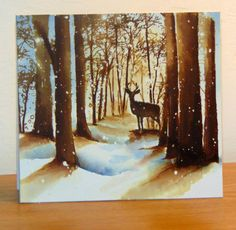 Snowy grove by Micheline Jourdain - Cards and Paper Crafts at Splitcoaststampers