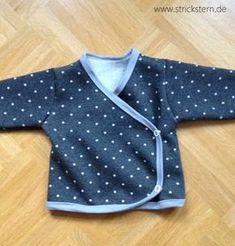 Einfaches Basic Schnittmuster Wickeljacke Baby - Ottobre Kids Fashion 5/2006 - Babysachen nähen Anleitungen & Schnittmuster auf www.strickstern.de