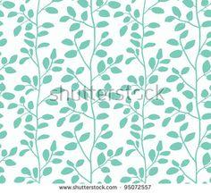 Blue foliage pattern