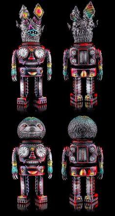 """The Space Oddities"" by TDK x CopASquat Toys! #CopASquatToys #DSKIOne #Lulubell #Sofubi #SpankyStokes"