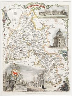 Thomas Moule's county maps include charming vignettes of the local area in a style so typical of the 19th century. This one of Oxfordshire is £115 but prices vary. See more on our website: http://www.sotherans.co.uk/Search.php?type%5B%5D=prints&sText=moule&x=0&y=0