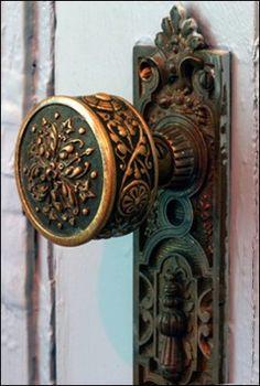 Love antique door knobs.
