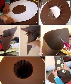 handmade witch hat kids paper crafts halloween costume
