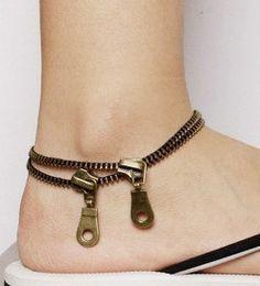Zip Anklet Unique $15.99, via Etsy.