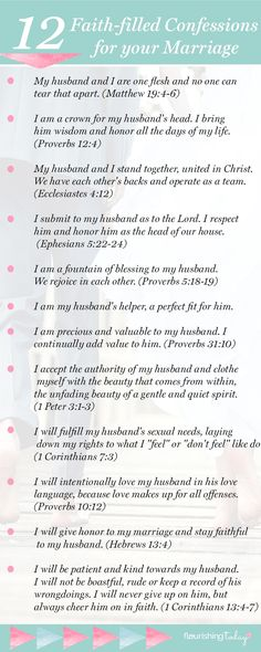 Proverbs 31 woman bible verse/saying/ words:Do you speak life over your marriage? Your words have power to build up! Here are 12 Faith-filled marriage confessions to make your marriage soar. Marriage Prayer, Biblical Marriage, Marriage Goals, Marriage Relationship, Happy Marriage, Marriage Advice, Love And Marriage, Scriptures For Marriage, Marriage Devotional