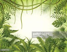 Vectorkunst : Tropical forest background