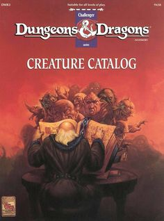 DMR2 Creature Catalog (Basic)   Book cover and interior art for Dungeons and Dragons Basic and Expert Editions - Dungeons & Dragons, D&D, DND, Basic, Expert, 1st Edition, 1st Ed., 1.0, 1E, OSRIC, OSR, Roleplaying Game, Role Playing Game, RPG, Wizards of the Coast, WotC, TSR Inc.   Create your own roleplaying game books w/ RPG Bard: www.rpgbard.com   Not Trusty Sword art: click artwork for source